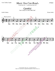 "Click to Enlarge: ""Careful"" Solfeggio Format"