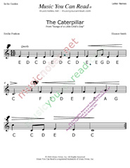 "Click to Enlarge: ""The Caterpillar"" Letter Names Format"