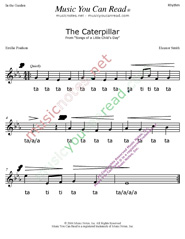 "Click to Enlarge: ""The Caterpillar"" Rhythm Format"