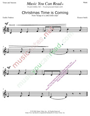 """Christmas Time is Coming"" Music Format"