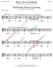 "Click to Enlarge: ""Christmas Time is Coming"" Rhythm Format"