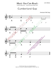 "Click to Enlarge: ""Cumberland Gap"" Letter Names Format"