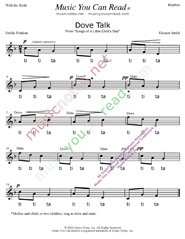 "Click to Enlarge: ""Dove Talk"" Rhythm Format"