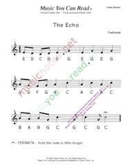 "Click to Enlarge: ""The Echo"" Letter Names Format"
