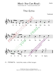 "Click to Enlarge: ""The Echo"" Rhythm Format"