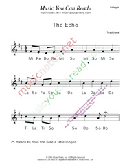 "Click to Enlarge: ""The Echo"" Solfeggio Format"