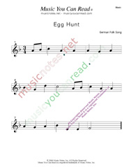 """Egg Hunt"" Music Format"