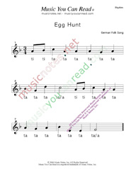 "Click to Enlarge: ""Egg Hunt"" Rhythm Format"