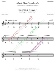 "Click to Enlarge: ""Evening Prayer"" Letter Names Format"