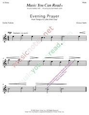 """Evening Prayer"" Music Format"