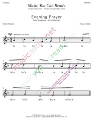 "Click to Enlarge: ""Evening Prayer"" Rhythm Format"
