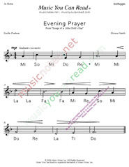 "Click to Enlarge: ""Evening Prayer"" Solfeggio Format"