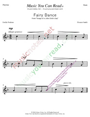 """Fairy Dance"" Music Format"