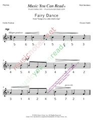 "Click to Enlarge: ""Fairy Dance"" Pitch Number Format"