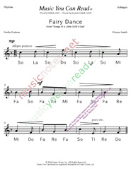 "Click to Enlarge: ""Fairy Dance"" Solfeggio Format"