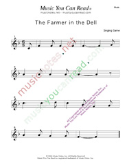 """The Farmer in the Dell"" Music Format"