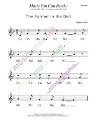 "Click to Enlarge: ""The Farmer in the Dell"" Solfeggio Format"