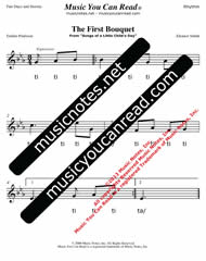"Click to Enlarge: ""The First Bouquet"" Rhythm Format"