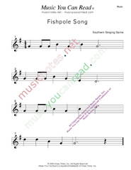 """Fishpole Song"" Music Format"