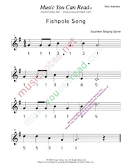 "Click to Enlarge: ""Fishpole Song"" Pitch Number Format"
