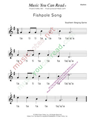 "Click to Enlarge: ""Fishpole Song"" Rhythm Format"