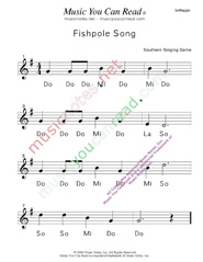 "Click to Enlarge: ""Fishpole Song"" Solfeggio Format"