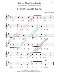 "Click to enlarge: ""French Cradle Song"" Beats Format"