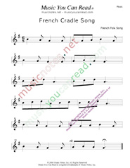 """French Cradle Song"" Music Format"