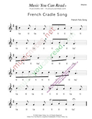 "Click to Enlarge: ""French Cradle Song"" Rhythm Format"