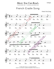 "Click to Enlarge: ""French Cradle Song"" Solfeggio Format"