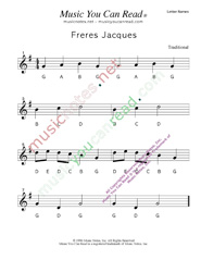 "Click to Enlarge: ""Freres Jacues"" Letter Names Format"