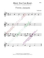 """Freres Jacues"" Music Format"