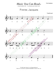 "Click to Enlarge: ""Freres Jacues"" Pitch Number Format"