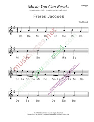 "Click to Enlarge: ""Freres Jacues"" Solfeggio Format"