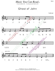 "Click to enlarge: ""Ghost of John"" Beats Format"