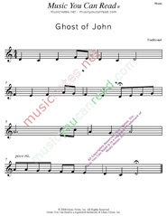 """Ghost of John"" Music Format"