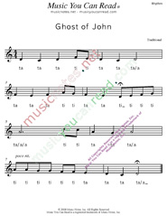 "Click to Enlarge: ""Ghost of John"" Rhythm Format"