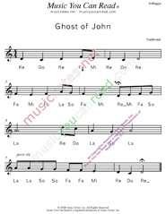 "Click to Enlarge: ""Ghost of John"" Solfeggio Format"