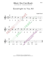 "Click to enlarge: ""Goodnight to You All"" Beats Format"