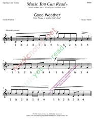 "Click to enlarge: ""Good Weather"" Beats Format"