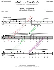 "Click to Enlarge: ""Good Weather"" Letter Names Format"