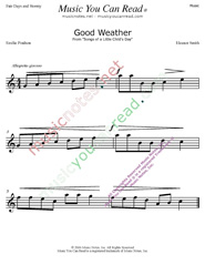 """Good Weather"" Music Format"