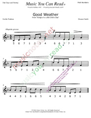 "Click to Enlarge: ""Good Weather"" Pitch Number Format"