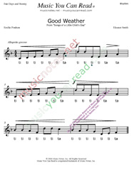 "Click to Enlarge: ""Good Weather"" Rhythm Format"