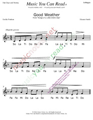 "Click to Enlarge: ""Good Weather"" Solfeggio Format"