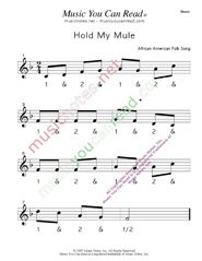 "Click to enlarge: ""Hold My Mule"" Beats Format"