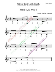 "Click to Enlarge: ""Hold My Mule"" Letter Names Format"