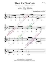 "Click to Enlarge: ""Hold My Mule"" Rhythm Format"