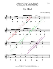 "Click to enlarge: ""Ida Red"" Beats Format"