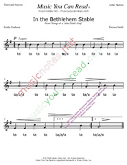 "Click to Enlarge: ""In the Bethlehem Stable"" Rhythm Format"